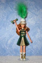 GREEN & GOLD Majorette dress, hat, & boots