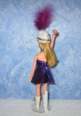 PURPLE & GOLD Majorette dress, hat, & baton
