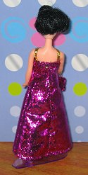Micro Eyelash Pink gown + purse