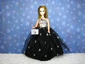 Black & Silver Orbs gown with purse