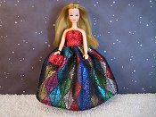 Diamonds gown with shorts & purse