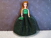 Emerald Gala gown with purse