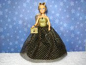 Gold Diamonds gown with purse