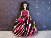 Pink Diagonals gown & purse