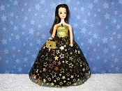 Stars gown with purse