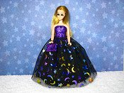 Stars and Moons gown with purse