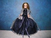 Midnight Stars halter style ballgown