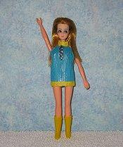 Aqua & Yellow with Chain Dancing Mini