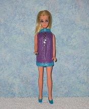Purple & Aqua with Chain Dancing mini