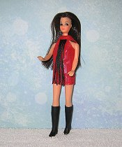 Red with Black Fringe Dancing mini