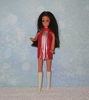 Red with White Fringe Dancing Mini