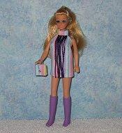 Stripe mini with purple fringe & purse