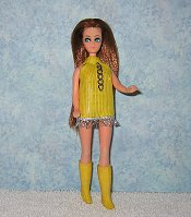 Yellow with Silver Trim Dancing Mini
