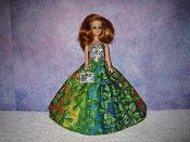 OVER THE RAINBOW gown with purse