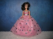 Pink Holographic Dot Gown