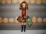 Pumpkin twirl mini with purse & skull bag