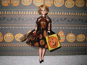 Pumpkin & Tulle Dress with purse & bag