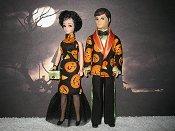 Halloween Pumpkin Tuxedo Set