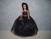 Purple Glitter ballgown with purse