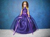 Purple Sparkle ballgown
