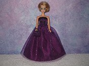 PURPLE TOPAZ SPARKLES gown with purse