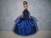Sapphire ballgown with wrap PREORDER