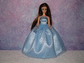 SKY BLUE gown with purse