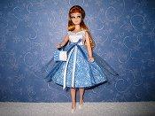 White & Blue snowflake Tulle Dress (Glori)