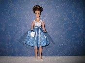 White & Blue snowflake Tulle Dress