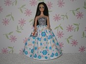 Butterfly gown with charm purse