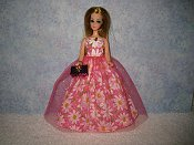 Pink Daisy gown with purse preorder