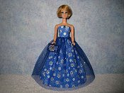 Blue Small Daisy gown with purse *