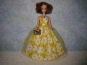 Yellow Daisy gown with purse preorder