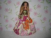 Playful Kitties Gown with purse (Emma)
