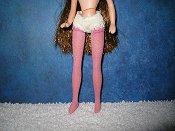 Stockings darker Pink custom dyed