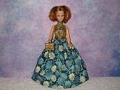 TEAL DELIGHT gown with purse