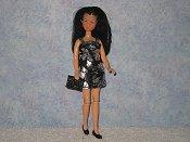 Black & Silver Foil mini with purse