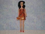 Tangerine Foil Mini with purse