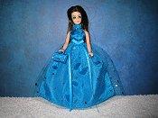 Turquoise Confetti ballgown