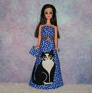 Tuxedo Kitty gown with purse #1