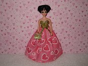 Soft pink hearts ballgown with purse