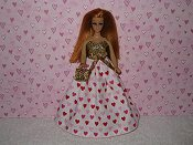 Valentine Gown #7 with purse