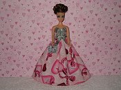 Valentine Gown #9 with purse