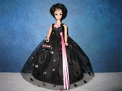 Black with pink foil hearts ballgown (Kip)