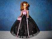Black with pink bodice ballgown (Glori)