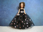 Black & pink foil hearts Ballgown (Penny)