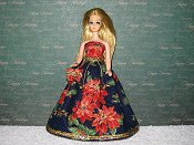 POINSETTIA gown with purse #2