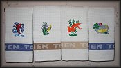 4 KOI kitchen towels