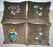 *4 seasonal bird set of pillows Example