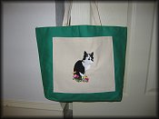 Black & White Cat Tote Example